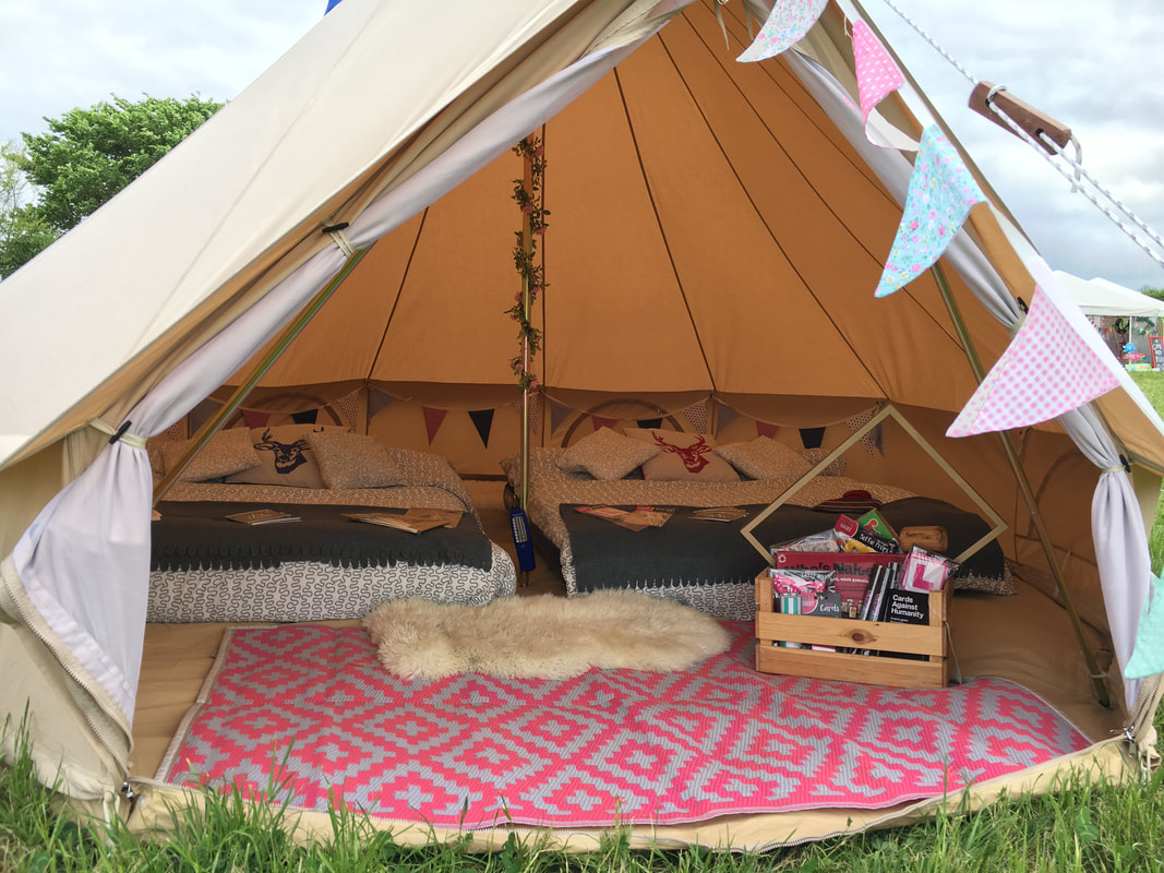 The bell tents are fully furnished including bedding sheepskins fairy lights and bunting! You can also take advantage of our Hen Games Crate and ... & Hen Weekends - Tinkerbell Tent Hire